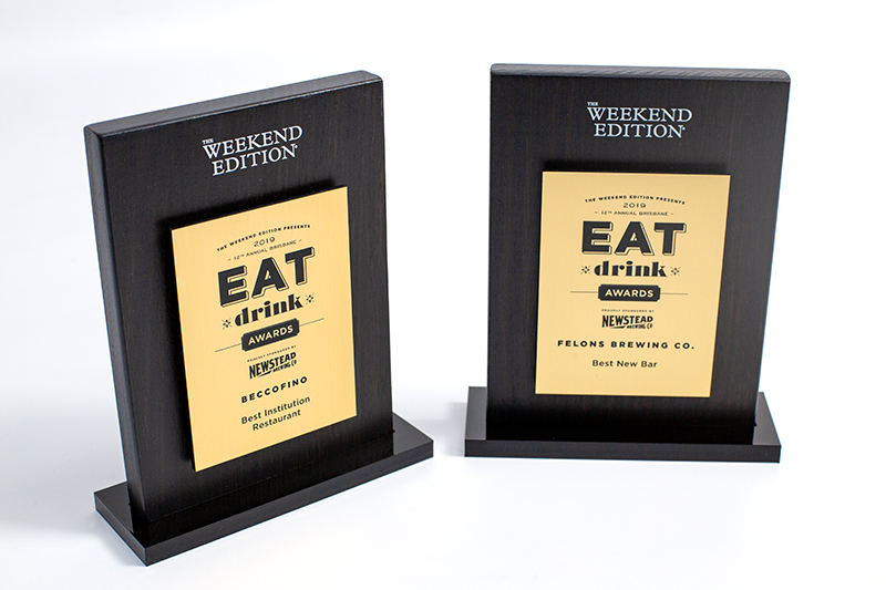 TWE Eat Drink Award Trophies