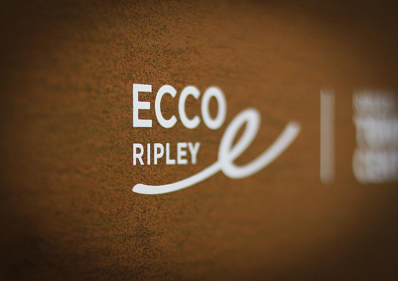 Ecco Ripley Signage Ecco Ripley Signage - closeup